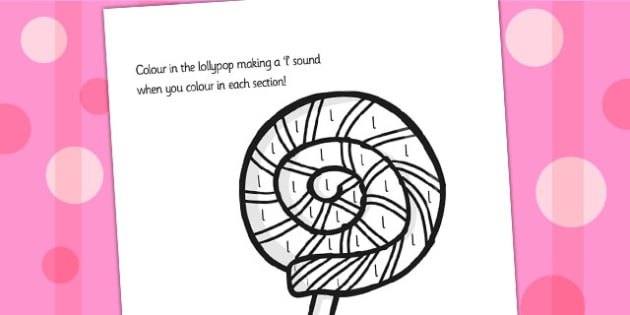 Initial l Sound Production Colouring Sheet - initial I, sounds
