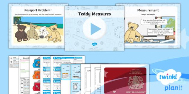 PlanIt Y1 Measurement SolveIt Lesson Pack - Measurement, length, height, size, weight, capacity, centimetres, meters, litres, millilitres, kilog
