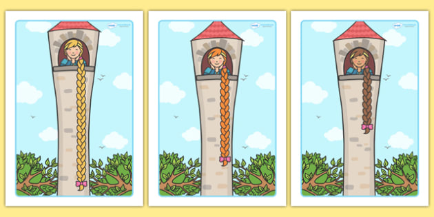 Rapunzel Measuring Length (in 5s) and Sorting Activity - Rapunzel Measuring and Sorting Activity, sorting, measuring, game, sort, measure, activity, rapunzel, story, themed, theme, in 5s, 5s, length, meter, cm, m, Maths, Math, numbers, numeracy, numb