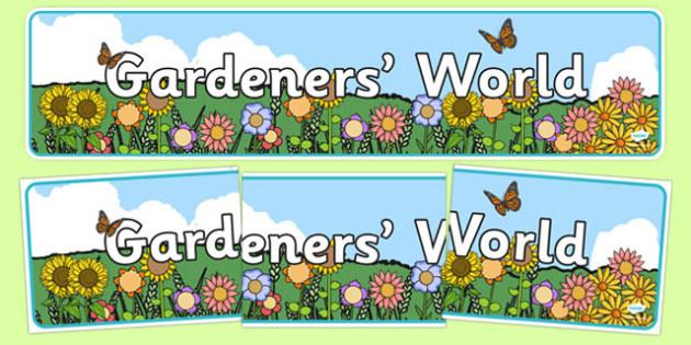 Gardener's World Display Banner - gardeners world, display banner, display, banner