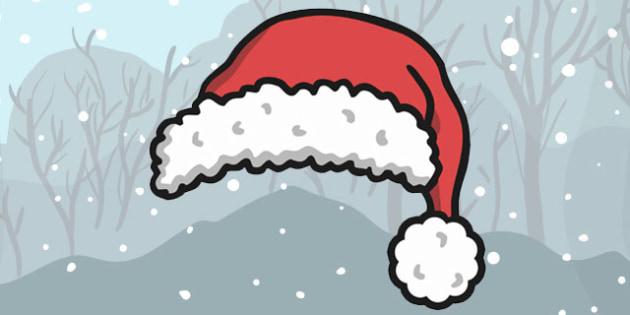 Christmas Santa Hat Cut Out - christmas, santa, hat, cut out
