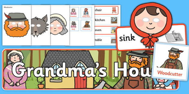 Little Red Riding Hood Grandma's House Role Play Pack - little red riding hood, grandmas house