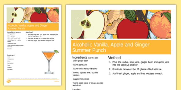Elderly Care Summer Alcoholic Drink Recipe - Elderly, Reminiscence, Care Homes, Summer