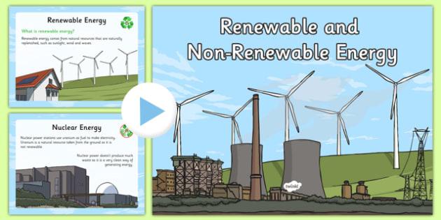Renewable and Non-Renewable Energy Information PowerPoint - renewable, non-renewable, energy, information, powerpoint