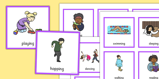 What Are They Doing? Verb Cards - what, doing, verb cards, verb, cards