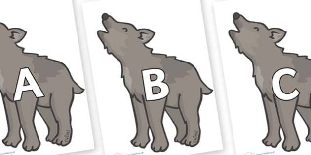 A-Z Alphabet on Wolf Cubs - A-Z, A4, display, Alphabet frieze, Display letters, Letter posters, A-Z letters, Alphabet flashcards