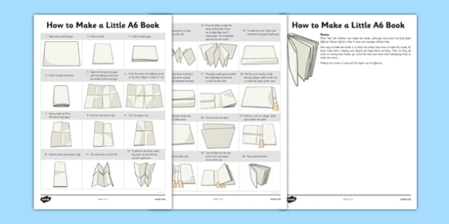 How to Make a Little A6 Book - how, make, little, a6, book, activity