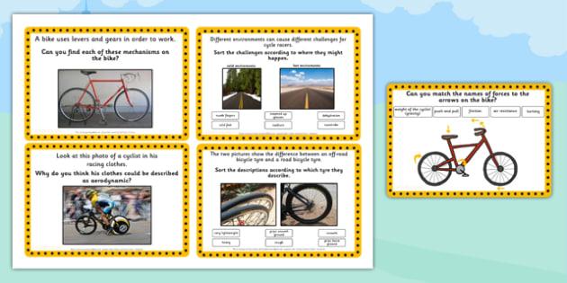 Tour de France KS2 Science Challenge Cards - le tour, sport, pe
