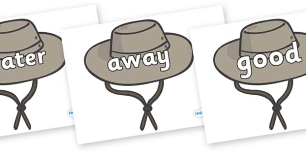 Next 200 Common Words on Cowboy Hats - Next 200 Common Words on  - DfES Letters and Sounds, Letters and Sounds, Letters and sounds words, Common words, 200 common words