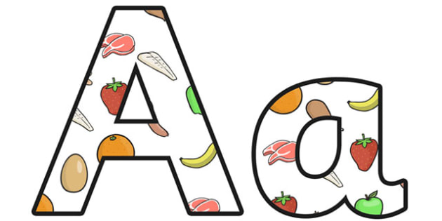Nutrition Small Lowercase Display Lettering - nutrition, health, nutrition display lettering, nutrition display letters, nutrition alphabet lettering, ks2