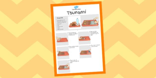 Tsunami Experiment Instructions Sheet - crafts, ocean, sea, activity