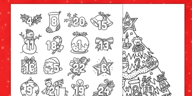 Christmas Mindfulness Colouring Advent Calendar - christmas, mindfulness, colouring, advent