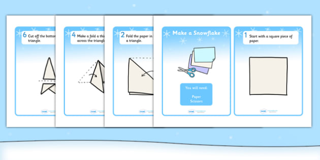 How to Make a Paper Snowflake Craft Instructions - how to make, make your own, craft, snowflake, winter, winter crafts, how to make a snowflake, paper snowflake, paper snowflake craft