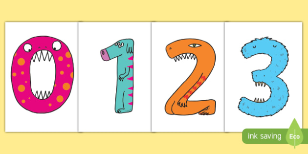Monster Numbers Display Numbers - monster, numbers, display numbers, display