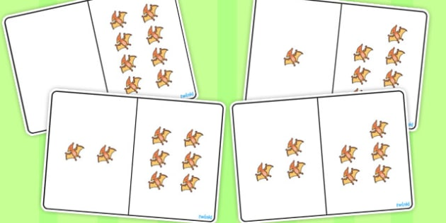 Pterodactyl Counting Number Bonds to 8 - numbers, counting, numeracy