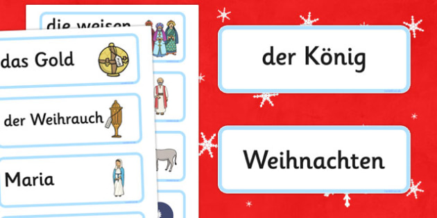 Nativity Topic Words German - german, nativity, topic, words, christmas