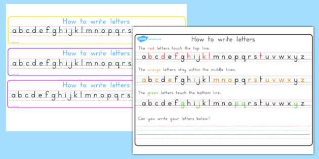 How to Write Letters Strips: Top, Middle, Bottom - australia, how, write, letters, writing, strips