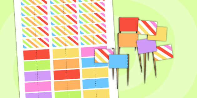Rainbow Themed Birthday Party Toothpick Flags - parties, birthday