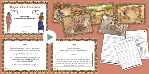 Use Speaking Listening Skills to Explore Maya Civilisation Pack