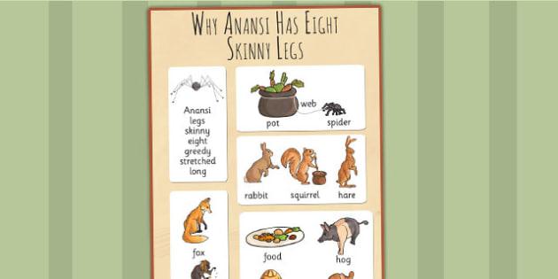 Why Anansi Has Eight Skinny Legs Story Vocabulary Mat - vocab