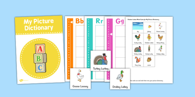 Chicken Licken Picture Dictionary and Word Card Set - picture