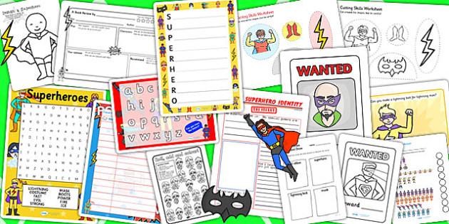 Superhero Activity Pack - activities, classroom activities, games