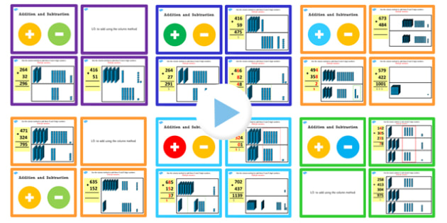 Year 3 Addition and Subtraction PowerPoints Pack Lesson 3 - pack