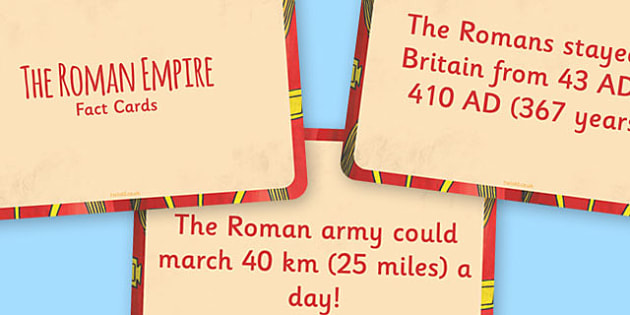 The Roman Empire Display Fact Cards - Roman, Empire, History