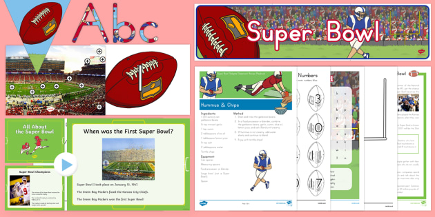 Super Bowl Resource Pack - usa, super bowl, football, american football, nfl, national football league
