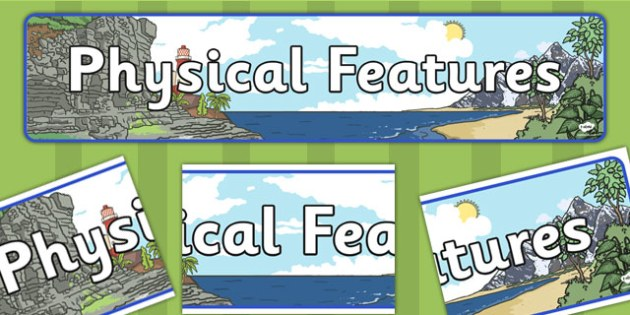 Physical Features Display Banner - display, banner, geography