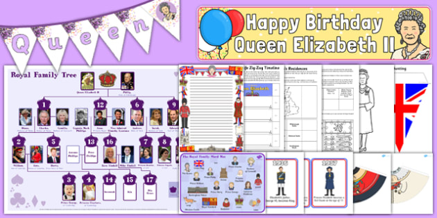 The Queen's Birthday Resource Pack - happy birthday, 90th birthday, queen elizabeth ii, resource pack
