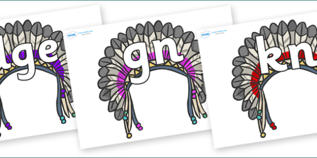 Silent Letters on Headdresses - Silent Letters, silent letter, letter blend, consonant, consonants, digraph, trigraph, A-Z letters, literacy, alphabet, letters, alternative sounds