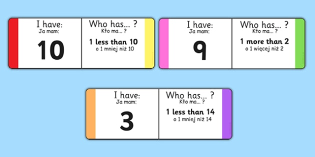 One More One Less Loop Cards Polish Translation - polish, counting, counting aid, games