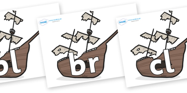 Initial Letter Blends on Shipwrecks - Initial Letters, initial letter, letter blend, letter blends, consonant, consonants, digraph, trigraph, literacy, alphabet, letters, foundation stage literacy