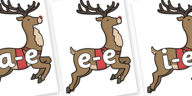 Modifying E Letters on Rudolph - Modifying E, letters, modify, Phase 5, Phase five, alternative spellings for phonemes, DfES letters and Sounds