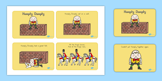 Humpty Dumpty Story Sequencing - A4, Humpty, Dumpty, stories