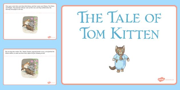 Beatrix Potter - The Tale of Tom Kitten PowerPoint - beatrix potter, tom kitten