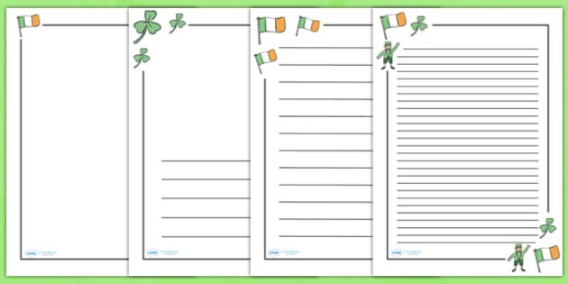 St Patrick's Day Page Borders - St Patrick's Day, Page border, border,  KS1, writing Borders, Ireland, Irish, St Patrick, patron saint, leprechaun, 17 march