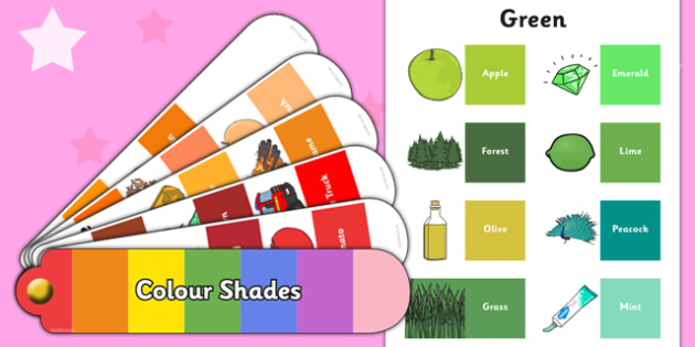 Colour Shades Pack - colour shades, colour, shades, colour wheel, colour theory, pack
