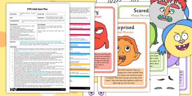 Making Mood Monsters EYFS Adult Input Plan and Resource Pack