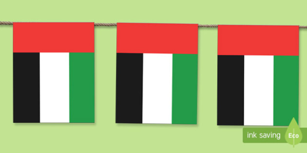 UAE Flag  Display Bunting
