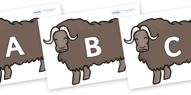 A-Z Alphabet on Chinese Ox - A-Z, A4, display, Alphabet frieze, Display letters, Letter posters, A-Z letters, Alphabet flashcards