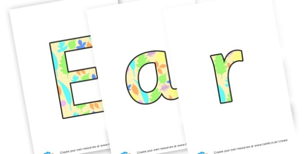 Early Years Foundation Stage - Display Lettering Primary Resources, cut out, letters, display