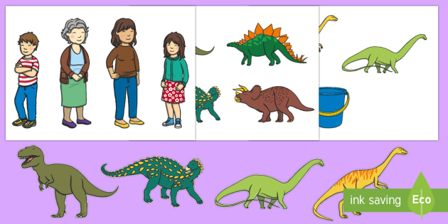 Harry and the Bucketful of Dinosaurs Story Cut-Outs - Harry and the Bucketful of Dinosaurs, Ian Whybrow,