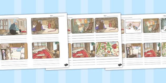 The Tailor of Gloucester Storyboard Template - tailor, gloucester