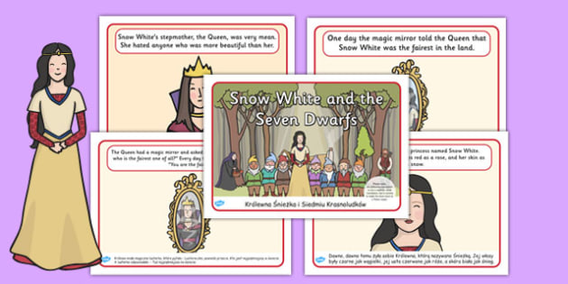 Snow White and the Seven Dwarfs Story Sequencing Polish Translation - polish