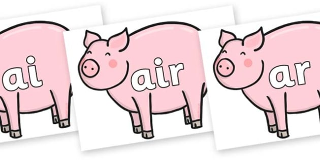 Phase 3 Phonemes on Chinese New Year Pig - Phonemes, phoneme, Phase 3, Phase three, Foundation, Literacy, Letters and Sounds, DfES, display