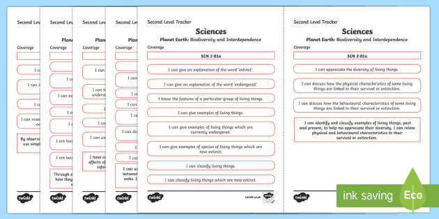 CfE Sciences (Planet Earth) Second Level Child Friendly Tracking-Scottish