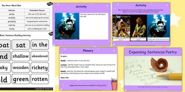 Expanding Sentence Poetry Lesson Teaching Pack Flipchart - poem