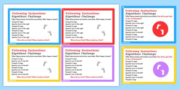ICT Challenge Cards Preparing for Turtle Logo - ict, computing